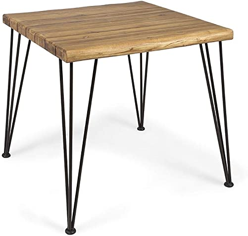 Christopher Knight Home Audrey Indoor Industrial Acacia Wood Dining Table