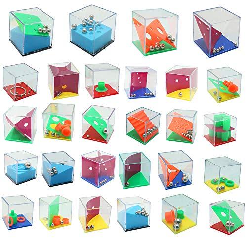 Brain Teaser For Kids - Mini Cube Puzzle Box Set of