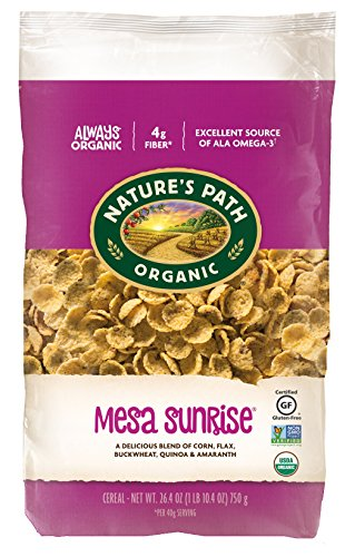 Amaranth Cereal - Nature's Path Organic Gluten-Free Cereal, Mesa Sunrise, 26.4 Ounce Bag (Pack of 6)
