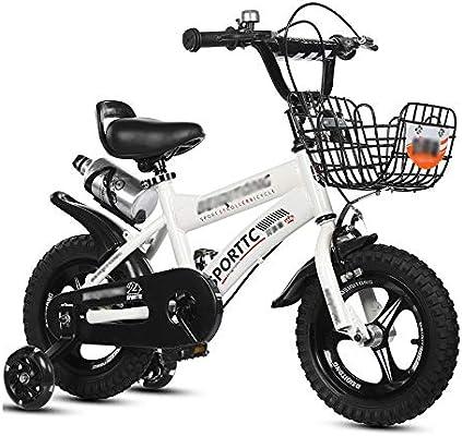 LJJL Bicicleta De Pie para Bicicleta Blanca para Niños con Rueda Y ...