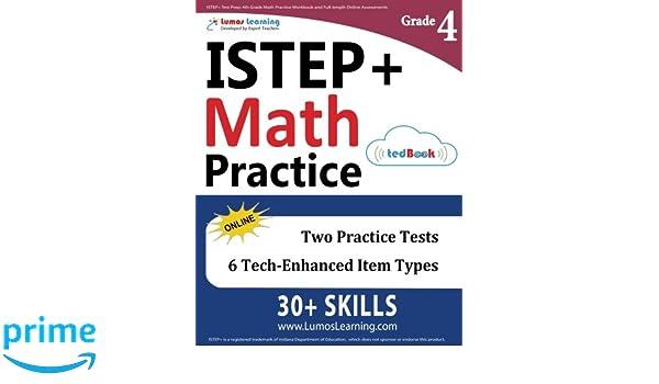 ISTEP Test Prep 4th Grade Math Practice Workbook And Full