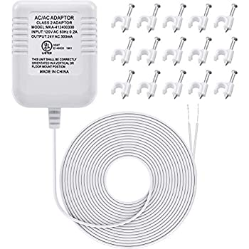 Amazon com: 24 Volt Transformer, C-Wire Power Adapter for