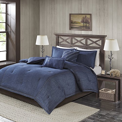Woolrich Perry Oversized Denim Comforter Set, Blue ()