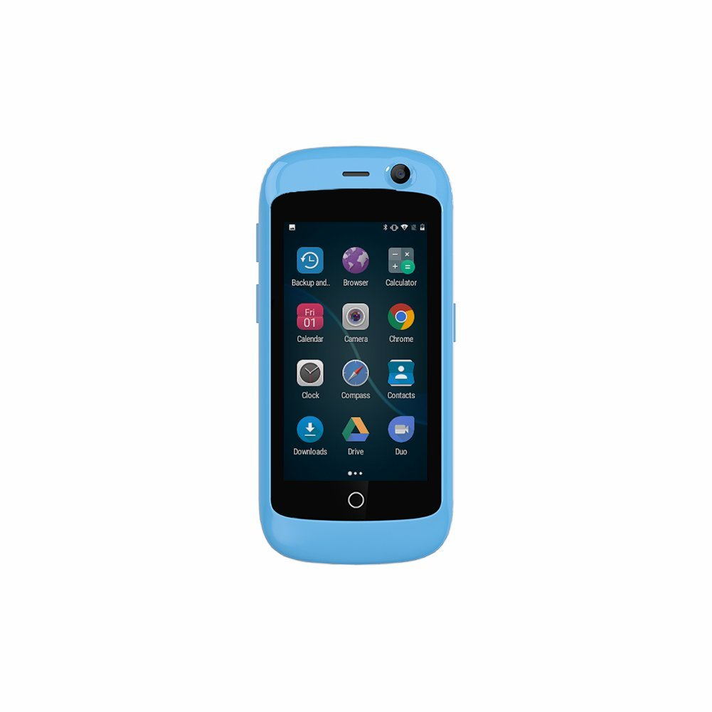 Unihertz Jelly Pro, The Smallest 4G Smartphone in The World, Android 7 0  Nougat Unlocked Smart Phone with 2GB RAM and 16GB ROM, Sky Blue