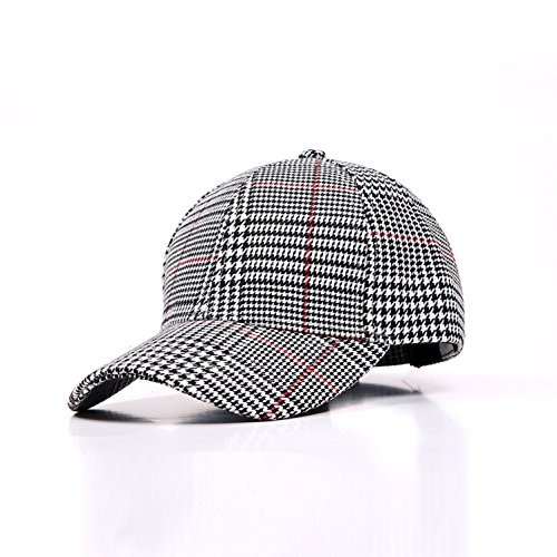 - Baseball Hat, Classic Cotton Dad Hats Adjustable Stripe Houndstooth Cap Polo
