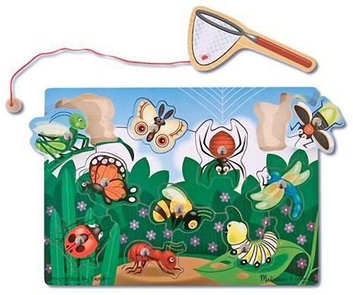 Melissa & Doug Magnetic Bug Catching Game & 1 Scratch Art Mini-Pad Bundle (03779)