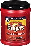 Folgers Classic Medium Roast Ground Coffee EAYjmn, 11.3 oz, (Pack of 2)
