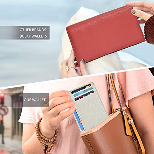 Clifton Heritage Leather Wallets for Women  RFID Blocking Ultra Slim Minimalist Front Pocket Wallet