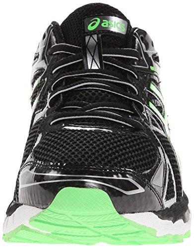ASICS Zapato para correr Gel-Surveyor 3 para hombres, negro / rel¨¢mpago / verde, 12.5 M EE. UU.