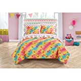 Emoji Bed in a Bag Queen Emoji Girls Complete 7 Piece Reversible Bedding Comforter Set (Love, Queen)