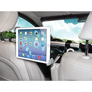 """LilGadgets CarBuddy Shared Universal Headrest Tablet Mount (For 7""""-11"""" devices such as iPad, Galaxy, Note, Fire, Nook, and Surface tablets)"""
