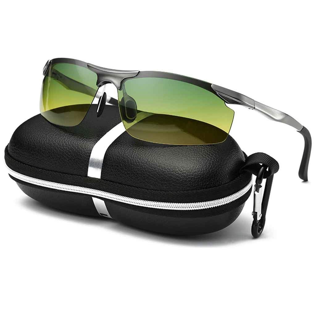 Grey Anti Glare Night Vision Driving Glasses - Polarized - with HD Night Vision Technology and Anti Glare