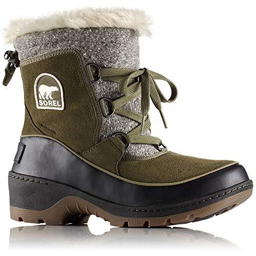 SOREL Womens 8 in. Tivoli III Waterproof Boots, Nori Green 11