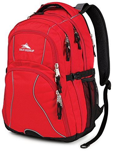 High Sierra Swerve Laptop Backpack, Red