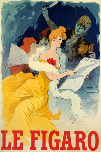 girl-yellow-dress-le-figaro-news-paper-french-by-cheret-large-vintage-poster-repro-on-canvas-