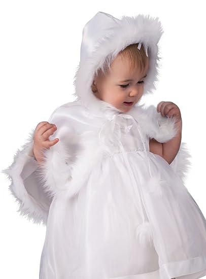 Boutique-Magique Cape Blanche pour baptême avec Capuche bébé Fille ou  garçon  Amazon.fr  Vêtements et accessoires de2547b986d