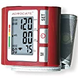 (Set) Advocate Wrist Blood Pressure w/ Convenient LCD Screen Monitor + AAAs