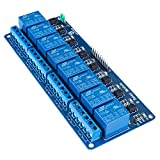 SunFounder 5V 8 Channel Relay Shield Module for Raspberry Pi 3, 2 Model B & B+ Arduino UNO 2560 1280 ARM PIC AVR STM32