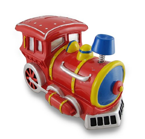 Resin Toy Banks Large Bobble Smoke Stack Train Engine Piggy Bank Coin Bank 10.5 X 7 X 6 Inches - Bank Train Kids