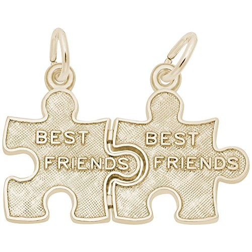 Rembrandt Charms, Best Friends Puzzle, 22K Yellow Gold Plated Silver