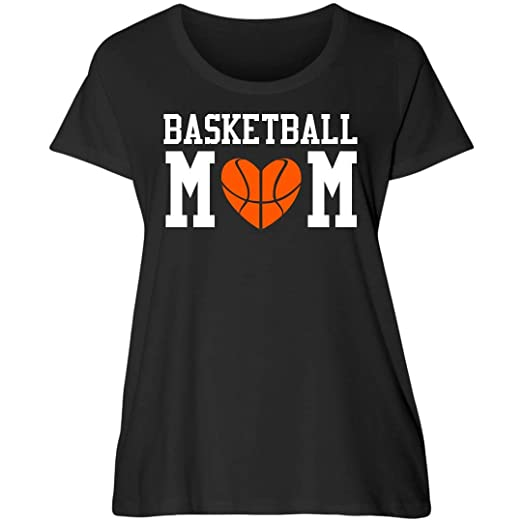 eb6c07ea618 Customized Girl Curvy Basketball Mom Tee: Women's Curvy Plus Size Scoopneck  T-Shirt at Amazon Women's Clothing store: