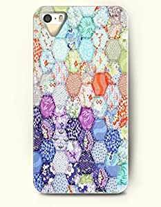 iPhone 5/5S Case, OOFIT Phone Cover Series for Apple iPhone 5 5S Case (DOESN'T FIT iPhone 5C)-- Colorful Hexagon Button Pattern -- Honeycomb Pattern