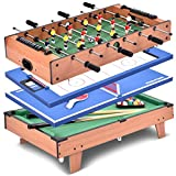 Giantex Multi Game Table Pool Hockey Foosball Table Tennis Billiard Combination Game Table (4 in 1)