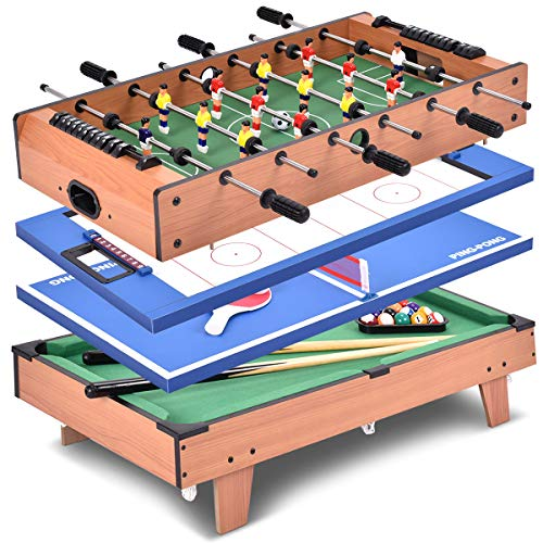 Giantex Multi Game Table Pool Hockey Foosball Table Tennis...