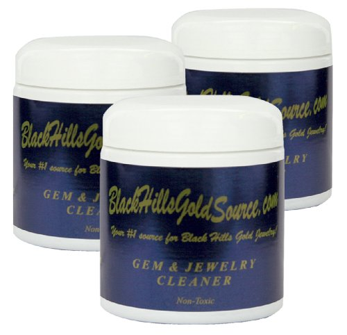 - Professional Gem and Jewelry Cleaner, Three 8 oz. Kits, with Cleaning Solution, Brush and Basket, for Your Precious Jewelry Including Gold, Silver and Platinum, by BlackHillsGoldSource