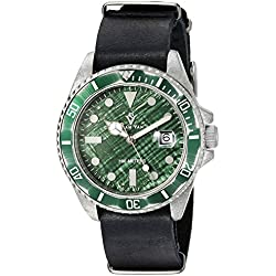 Christian Van Sant Men's CV5202 Montego Analog Display Quartz Black Watch