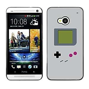 TopCaseStore / la caja del caucho duro de la cubierta de protección de la piel - Video Game Retro Art Painting - HTC One M7