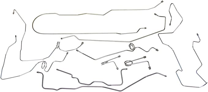 1995-98 Chevrolet GMC Longbed Ext Cab Truck 1//2 Ton 2wd Brake Line Set Stainless