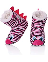 Kids Girls Boys Floor Slippers Cute Animal Soft Warm Plush Lining Non-Slip  House Shoes 8c9ec41bddec