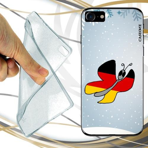 CUSTODIA COVER CASE CASEONE BUTTERFLY GERMANY PER IPHONE 8