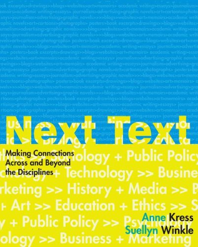 NextText: Making Connections Across and Beyond the...