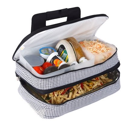 Picnic Plus Entertainer Insulated Food Carrier Houndstooth - Picnic Plus PSM-721HT