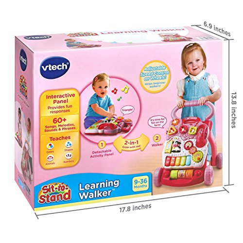 51SZB%2BjvmzL - VTech Sit-to-Stand Learning Walker Amazon Exclusive, Pink