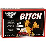 Magnetic Poetry - Bitch Kit - Words for Refrigerator - Write Poems and Letters on the Fridge - Made in the USA