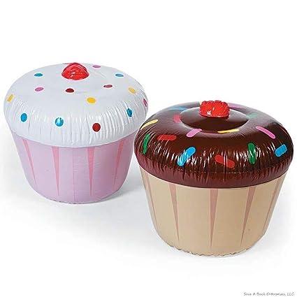 Amazon.com: Postre gigante inflable para cupcakes – Flotador ...