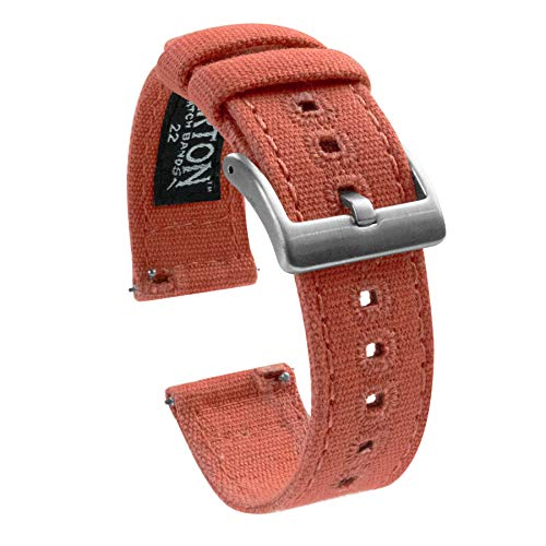 - Barton Canvas Quick Release Watch Band Straps - Choose Color & Width - 18mm, 20mm, 22mm - Autumn 20mm