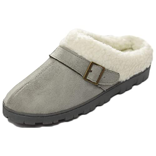 MU CHAO Zapatillas de habitación para Mujeres Calzado de Invierno Antideslizante para Mujer Calzado para el hogar: Amazon.es: Zapatos y complementos