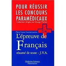 Epreuve Francais:resume Texte Jva (reussir Concours Param)