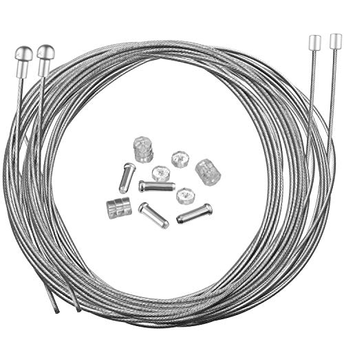 Hotop Road Bike Brake Cable Bicycle Gear Cable Wire and Caps Set (Road Bike Brake Cable Style B)