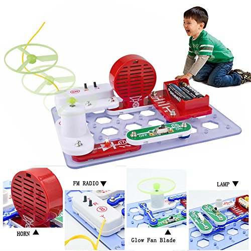 Circuits Kits, Sound Electronics Discovery Kit FM Radio LED Fun Science Playset