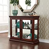 Upton Home Pederson Mahogany Double Door Curio