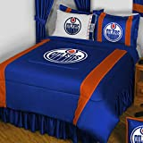 NHL Edmonton Oilers Queen Bedding Set Hockey Logo Bed