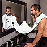 shaving Beard Bib - Hair Clippings Catcher, Grooming Cape Apron, for Man Shaving by Ystar - (White)