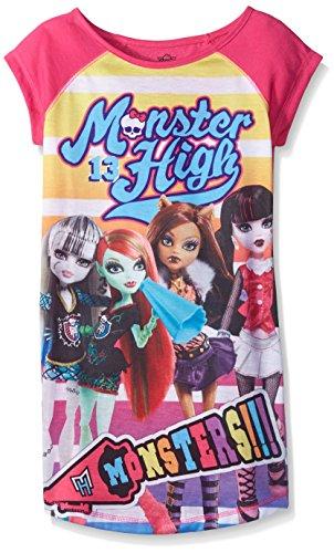 Monster High Big Girls' Nightgown, Pink, Medium