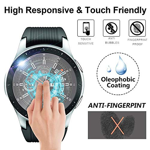 Euone  Halloween Clearance , 3Pack 2.5D Tempered Glass Screen Protector Full Cover Film for Samsung Galaxy Watch (46mm)