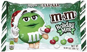 Mars M & M Chocolate Candies, Holiday Mint, 9.9 oz